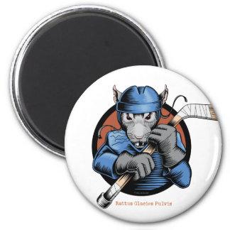 Rata del hockey imán redondo 5 cm