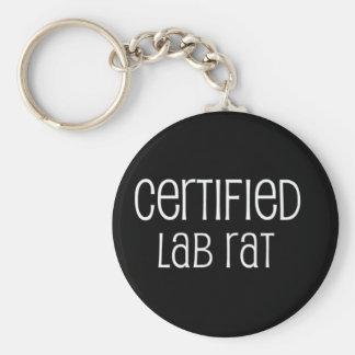 Rata del laboratorio certificado llavero redondo tipo pin