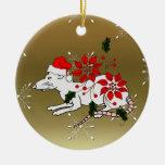 Rata del navidad adorno redondo de cerámica