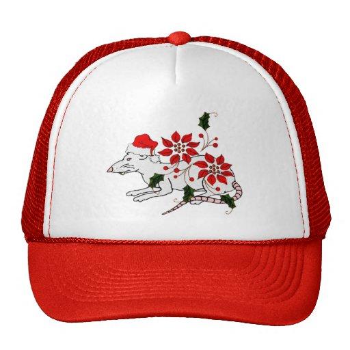 Rata del navidad gorra