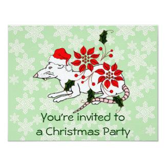 Rata del navidad invitación 10,8 x 13,9 cm
