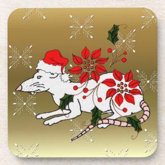 Rata del navidad posavaso