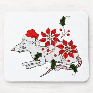 Rata del navidad tapetes de raton