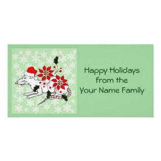 Rata del navidad tarjetas fotográficas