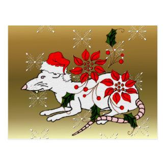 Rata del navidad postal