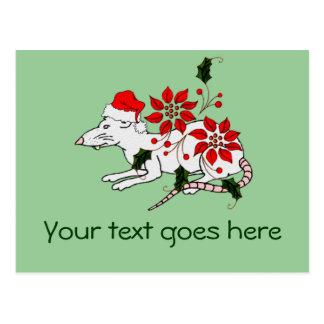 Rata del navidad tarjetas postales
