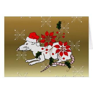 Rata del navidad tarjeton