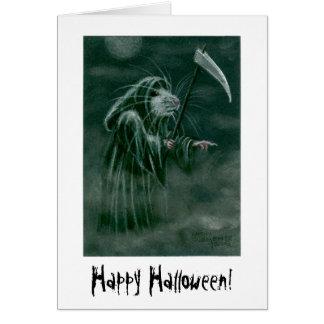 ¡Rata del parca feliz Halloween Felicitación