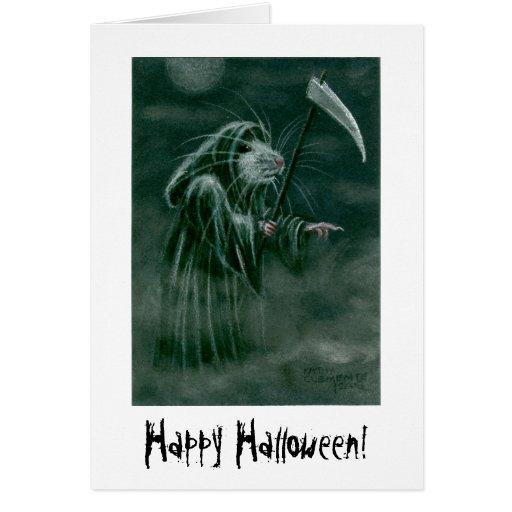 ¡Rata del parca, feliz Halloween! Tarjeta Pequeña