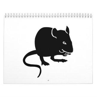 Rata del ratón calendarios de pared