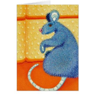 Rata del ratón porque su un secreto tarjeta de felicitación