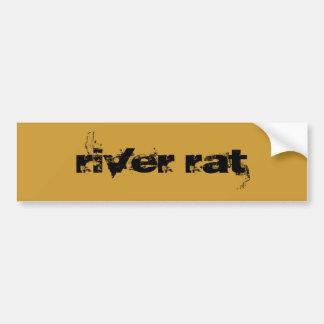 Rata del río pegatina de parachoque