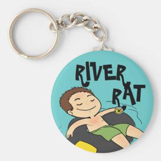 Rata del río llavero personalizado