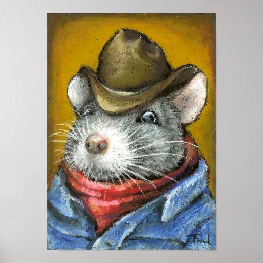 rata del vaquero póster
