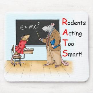 Rata demasiado elegante Mousepad Alfombrilla De Ratón
