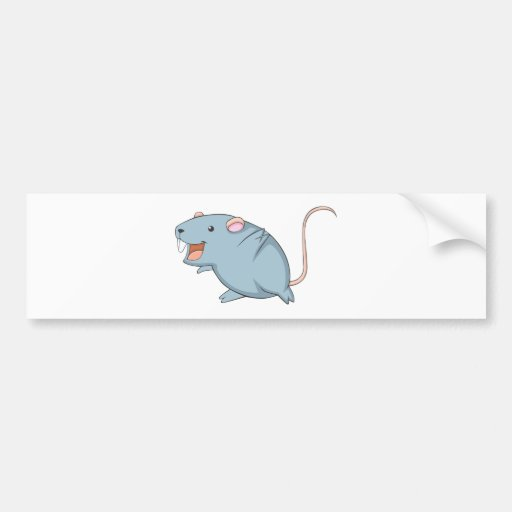 Rata feliz pegatina de parachoque