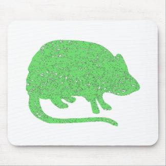 Rata gigante verde apenada alfombrilla de ratón