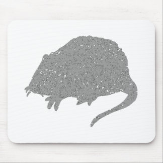 Rata gris apenada alfombrilla de ratón