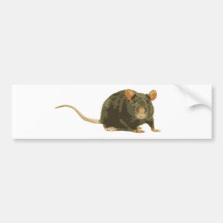 Rata linda etiqueta de parachoque