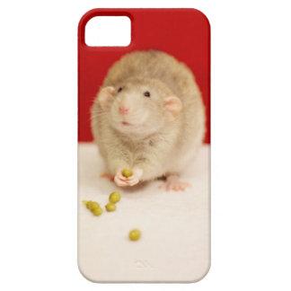 Rata linda con los guisantes funda para iPhone 5 barely there