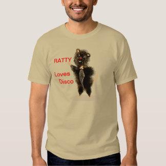 Rata linda divertida caprichosa del disco camisas