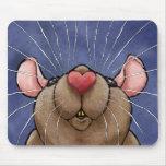 Rata linda Mousepad del corazón Tapete De Ratones