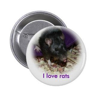 Rata linda que pega hacia fuera su perno de lengua pin