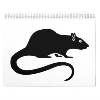 Rata negra calendarios de pared