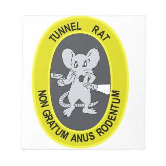 Rata no Gratum Rodentum del túnel Blocs De Papel