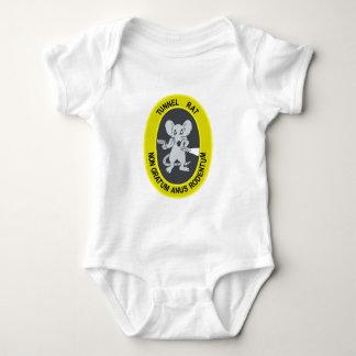 Rata no Gratum Rodentum del túnel Body Para Bebé