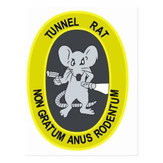 Rata no Gratum Rodentum del túnel Tarjetas Postales