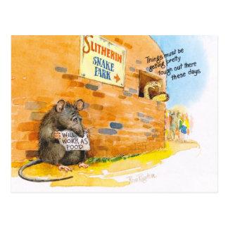 rata pobre postales