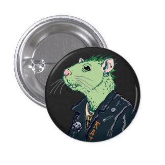 Rata Punk™ Pin Redondo De 1 Pulgada