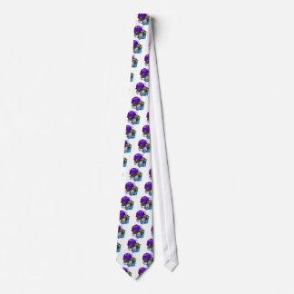 Rata púrpura de la luna corbatas personalizadas