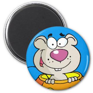Rata/ratón del bebé del remiendo de la calabaza imán redondo 5 cm