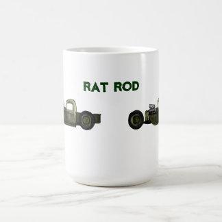 Rata Rod del verde caqui Taza De Café