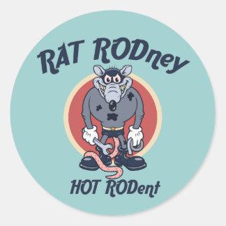 Rata Rodney Pegatina Redonda