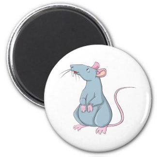 Rata sonriente imán redondo 5 cm