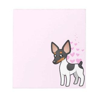 Rata Terrier/amor del fox terrier de juguete Bloc