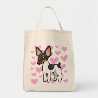 Rata Terrier/amor del fox terrier de juguete Bolsa Tela Para La Compra