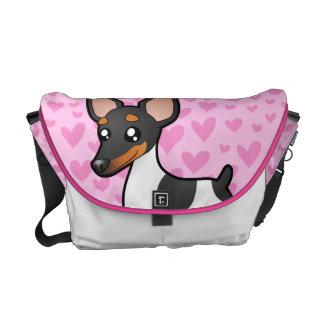 Rata Terrier/amor del fox terrier de juguete Bolsas De Mensajería