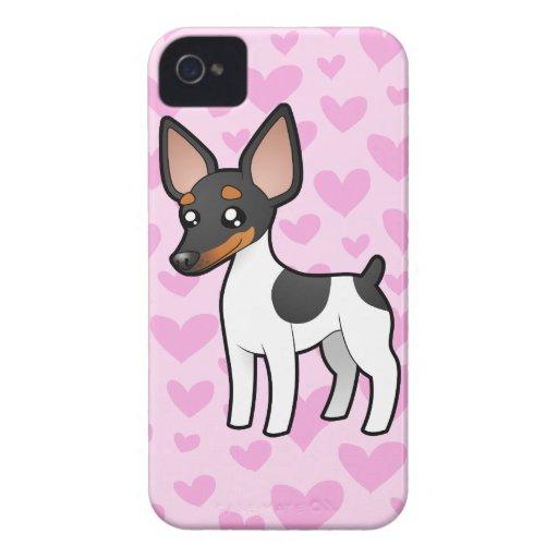 Rata Terrier/amor del fox terrier de juguete Carcasa Para iPhone 4