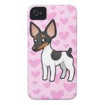 Rata Terrier/amor del fox terrier de juguete iPhone 4 Case-Mate Cobertura