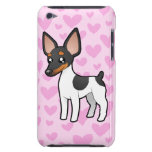 Rata Terrier/amor del fox terrier de juguete Case-Mate iPod Touch Fundas