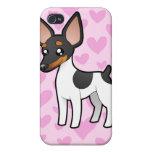 Rata Terrier/amor del fox terrier de juguete iPhone 4/4S Carcasa