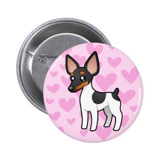 Rata Terrier/amor del fox terrier de juguete Pin Redondo 5 Cm