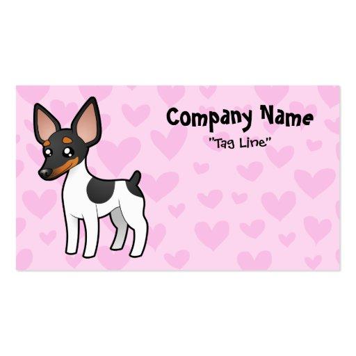 Rata Terrier/amor del fox terrier de juguete Tarjetas De Negocios