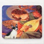 Rata Terrier - ángel de la mandolina Alfombrillas De Ratones