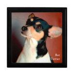 Rata Terrier Cajas De Recuerdo