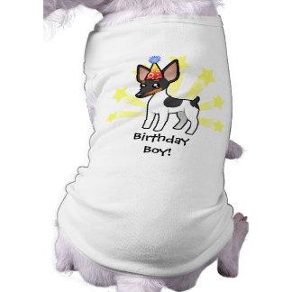 Rata Terrier del cumpleaños/fox terrier de juguete Playera Sin Mangas Para Perro